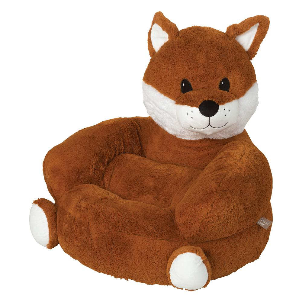 kids plush chairs chaise lounge at target trend lab orange children s fox character chair 102653 the