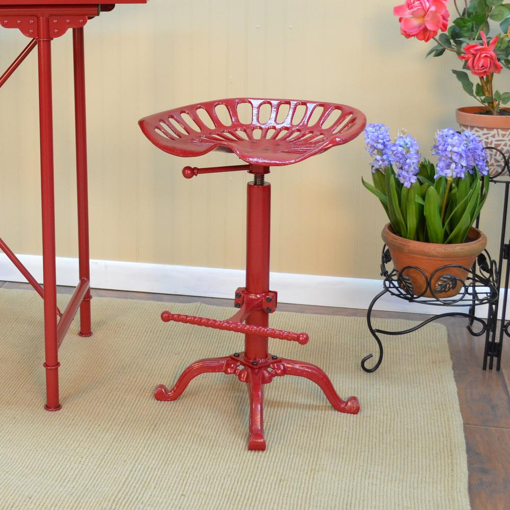 chair stools height hans wegner rocking carolina cottage tractor seat adjustable red bar stool
