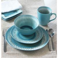 Shibori 16-Piece Blue Dinnerware Set-SHIB16 - The Home Depot