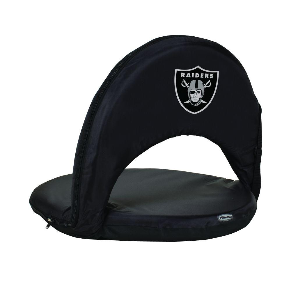 oakland raiders chair rocker recliner for nursery picnic time oniva black patio sports with digital logo