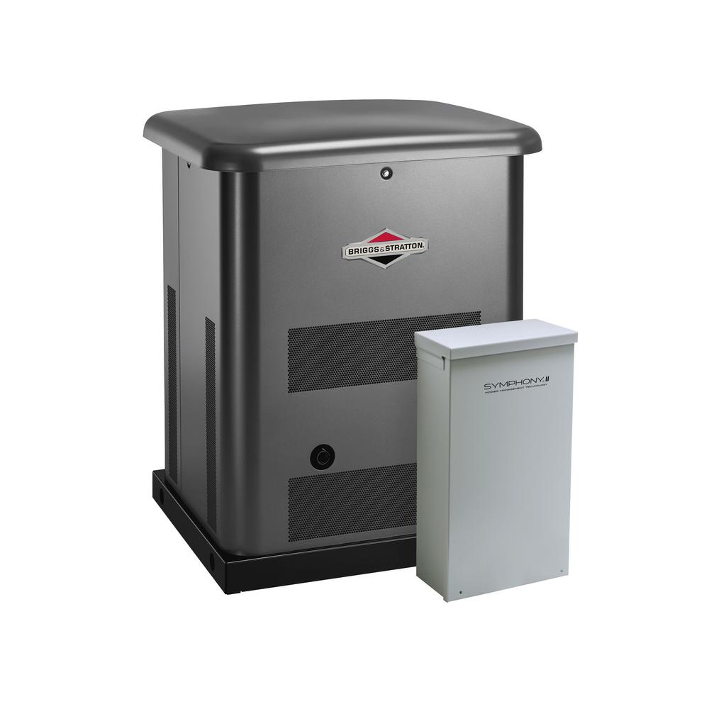 hight resolution of briggs stratton 10 000 watt automatic air cooled standby generator with 200 amp transfer switch