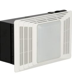 70 cfm ceiling exhaust fan with light white grille 100 watt incandescent [ 1000 x 1000 Pixel ]
