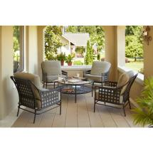 Hampton Bay Lynnfield 5-piece Patio Conversation Set With