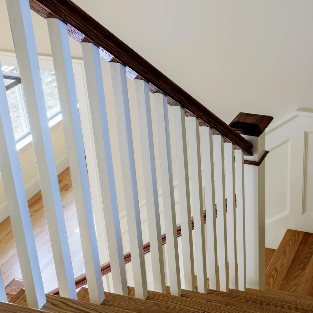 Stair Parts 6510 8 Ft Unfinished Red Oak Stair Handrail 6510R Esr   Red Oak Stair Railing   Inside   2 Tone   Beautiful   Color   Two Toned