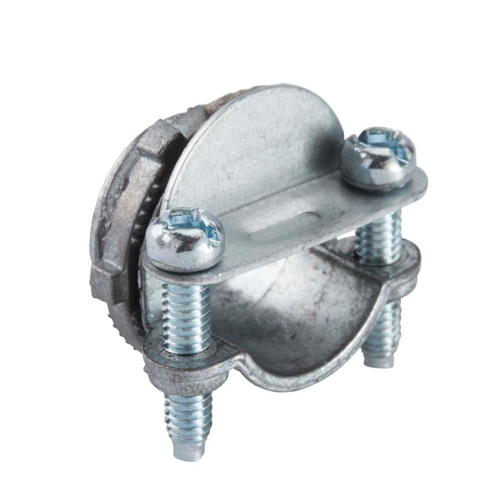 medium resolution of 3 8 in flexible metal conduit fmc combination clamp connector 5