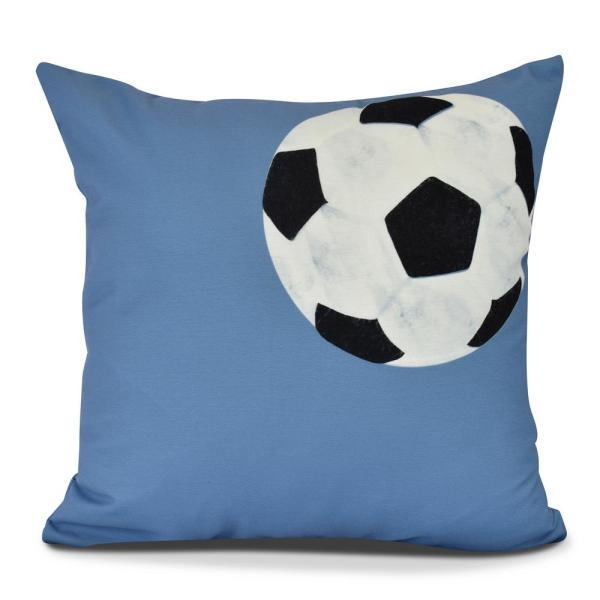 Soccer Ball Geometric Print Decorative Pillow-pg880bl15-16