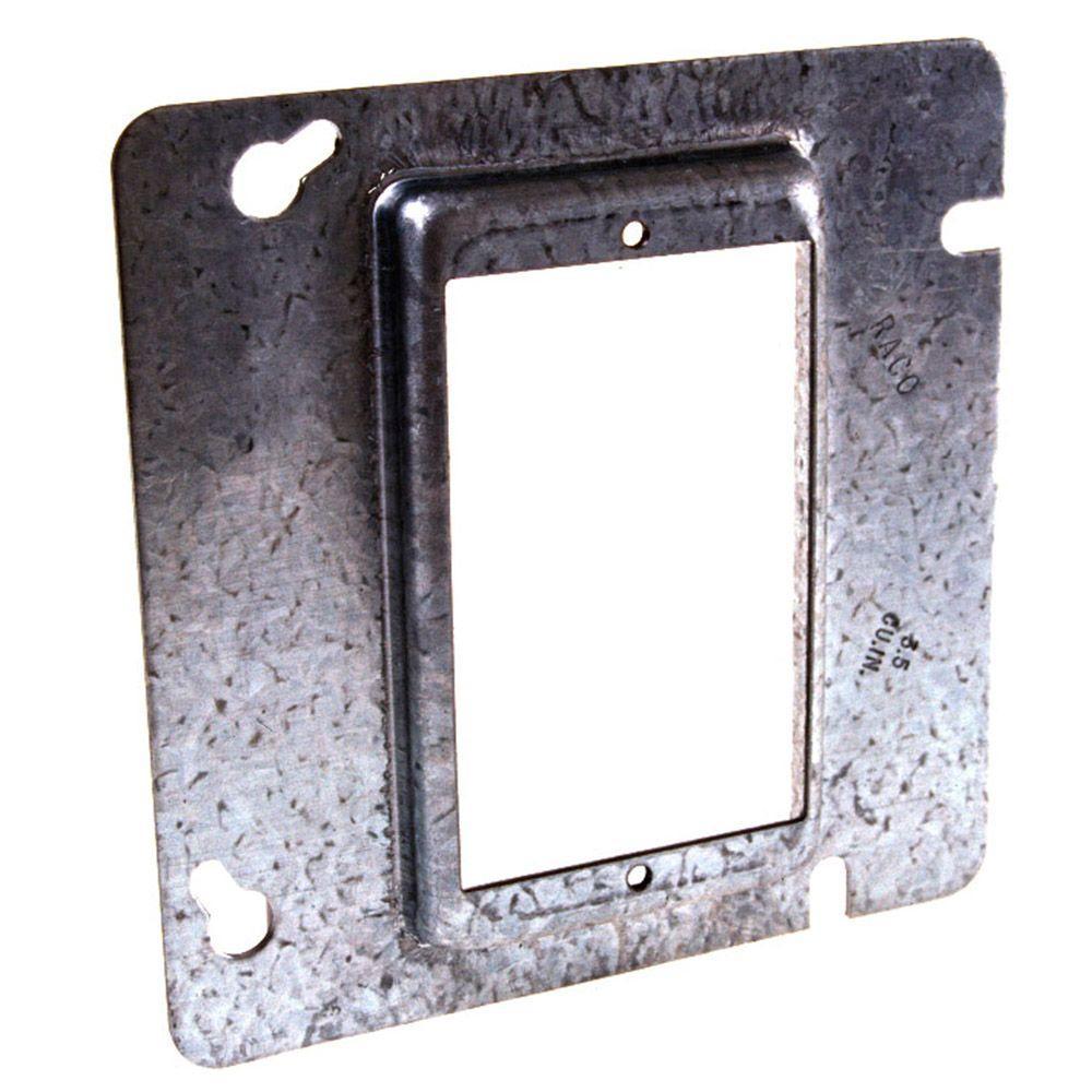 medium resolution of square single device mud ring raised 1