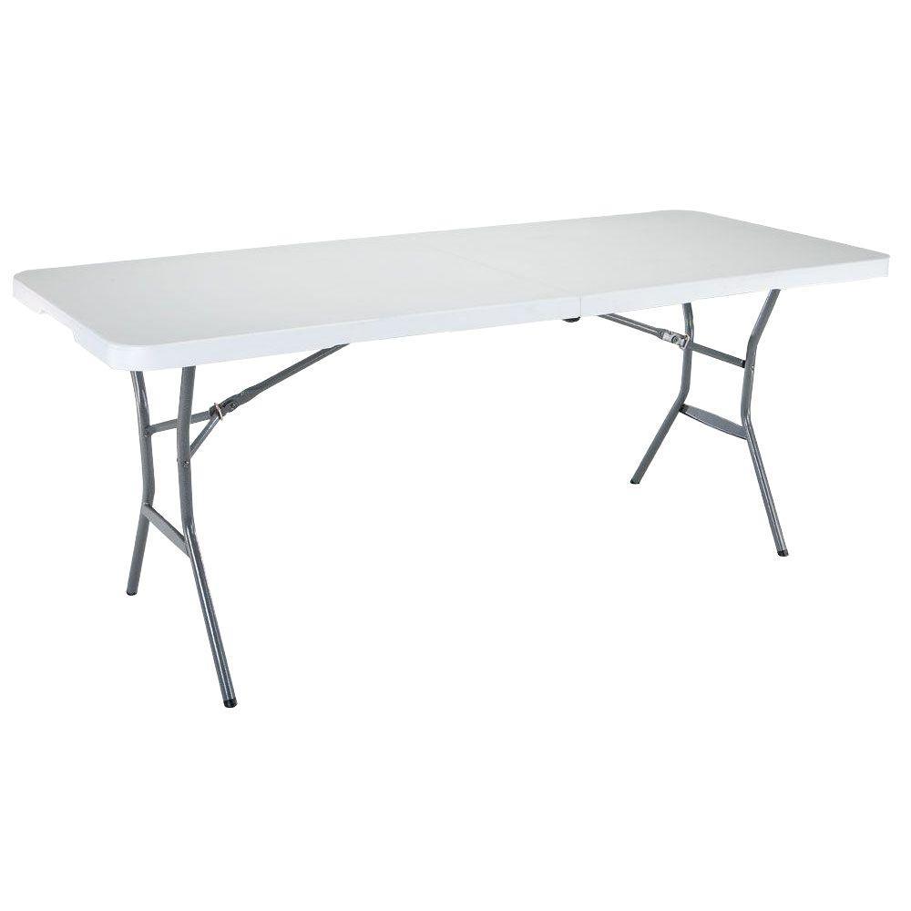 Lifetime 6 ft White Granite FoldInHalf Table25011