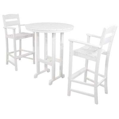 3 piece outdoor table and chairs antique bentwood white patio dining sets furniture the home depot classics plastic