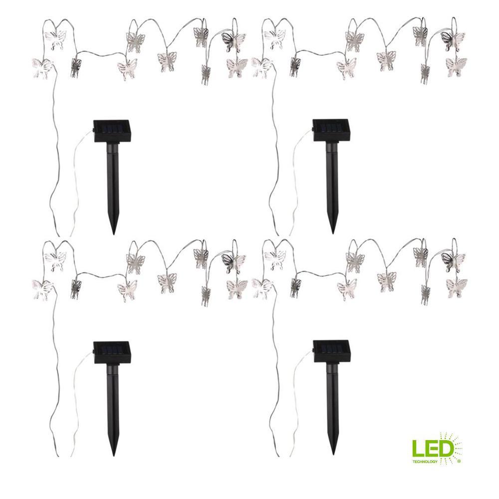 medium resolution of 10 light 8 ft solar powered butterfly led string light 4 pack