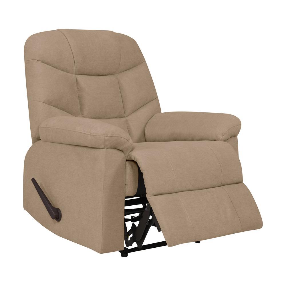 wall hugger recliner chair massage cushion barley tan plush low pile velvet rcl7 cnf82 wh internet 307698168