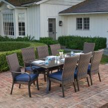 Royal Garden Anacortes 9-piece Aluminum Outdoor Dining Set