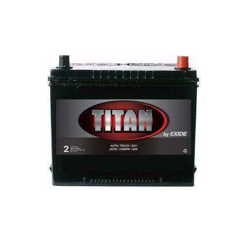 small resolution of exide titan 12 volts lead acid 6 cell 24f group size 585 cold cranking amps