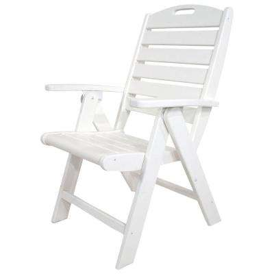 white plastic lounge chairs folding rocking outdoor patio the home depot yacht club classic highback chair
