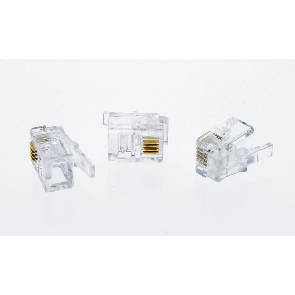 hight resolution of ideal rj11 modular plugs standard package 3 packs of 25