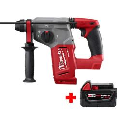 this review is from m18 fuel 18 volt lithium ion brushless cordless 1 in sds plus rotary hammer with free m18 5 0ah battery [ 1000 x 1000 Pixel ]