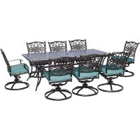 RST Brands Cannes 9-Piece Patio Woven Dining Set with ...