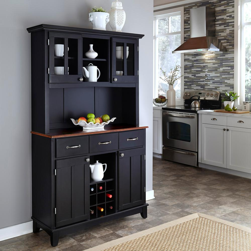kitchen buffet hutch aid blenders home styles black and cherry with 5100 0042 42 the depot