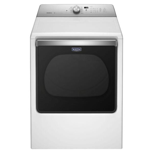 Maytag 8.8 Cu. Ft. 120 Volt White Gas Vented Dryer With Advanced Moisture Sensing-mgdb835dw