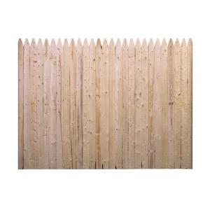 Barrette 6 Ft H X 8 Ft W Flat Rough Sawn Stockade Fence Panel 73000470 The Home Depot