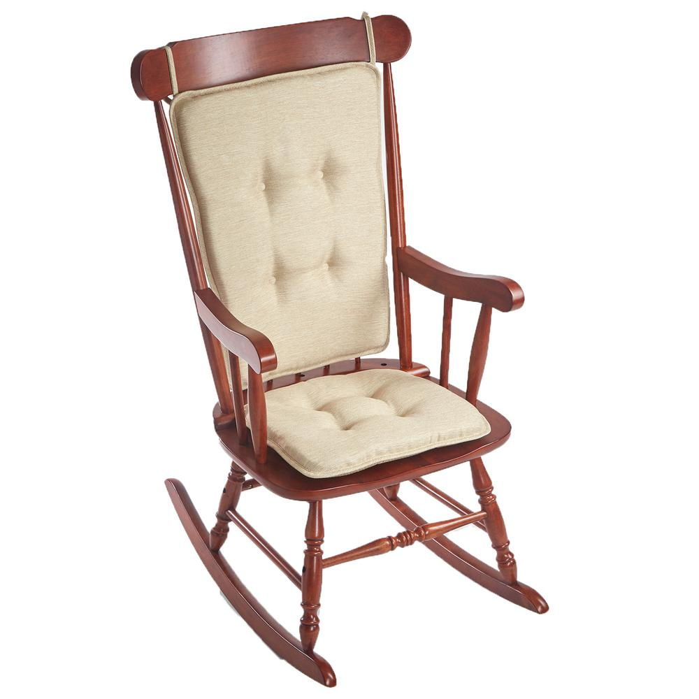 Klear Vu Embrace Natural Tufted Rocking Chair Cushion Set