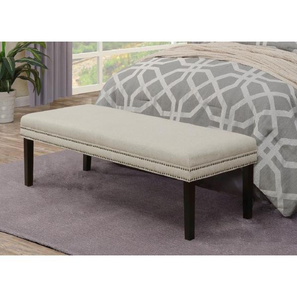 White Upholstered Benches for Bedroom