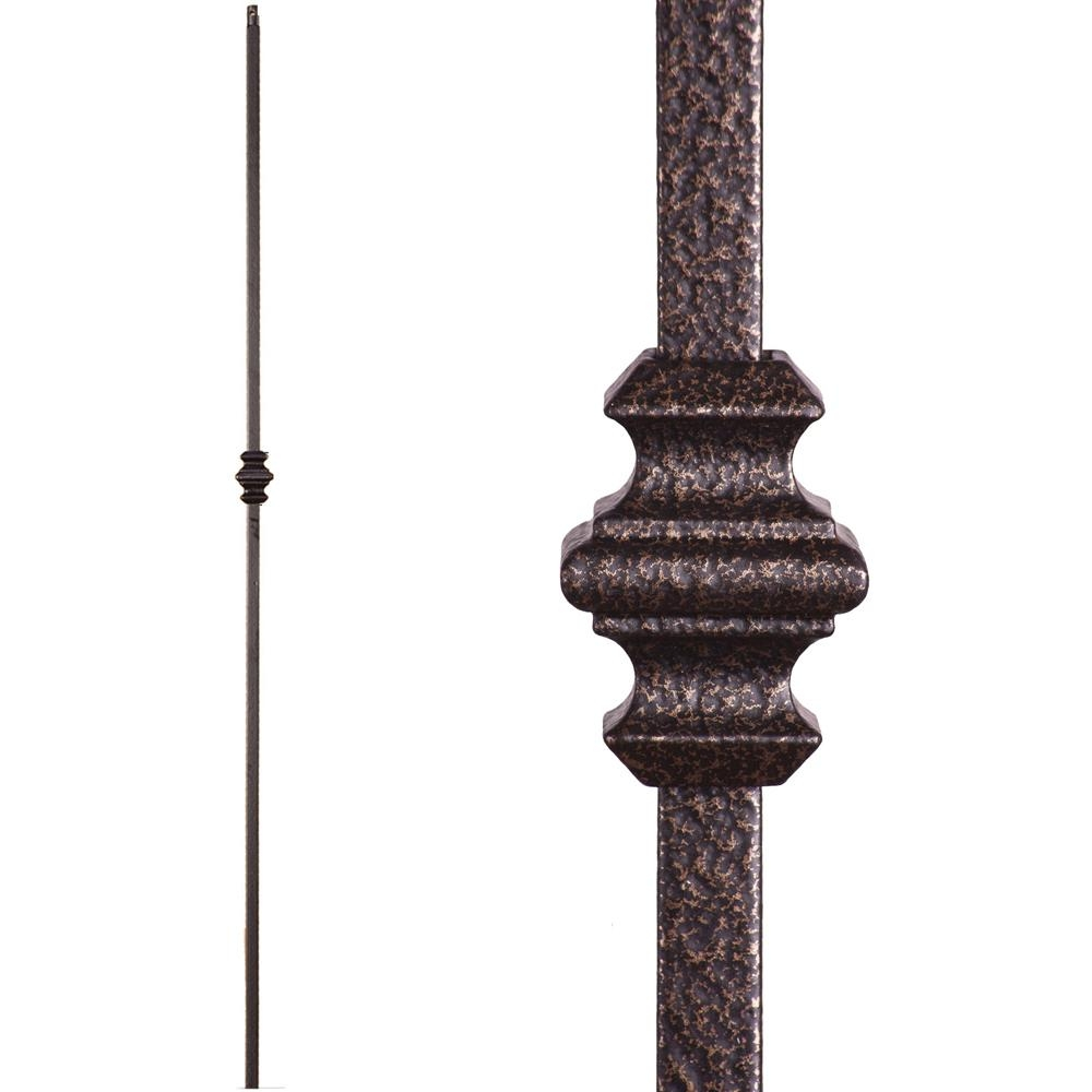 House Of Forgings Versatile 44 In X 5 In Copper Vein Single | Iron Balusters Home Depot | Railing Kit | Ole Iron | Staircase Remodel | Oil Rubbed Copper Vein | Baluster Railing