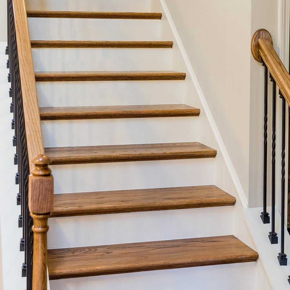 11 1 2 In X 36 In Red Oak Engineered Plain Stair Tread 8530R 036 | Stair Treads For Hardwood Stairs | Curved Staircase | Stair Nosing | Carpet Stair | Risers | Non Slip