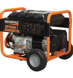 generac 5 500 watt gasoline powered portable generator [ 1000 x 1000 Pixel ]