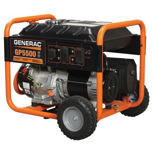 small resolution of generac 5 500 watt gasoline powered portable generator