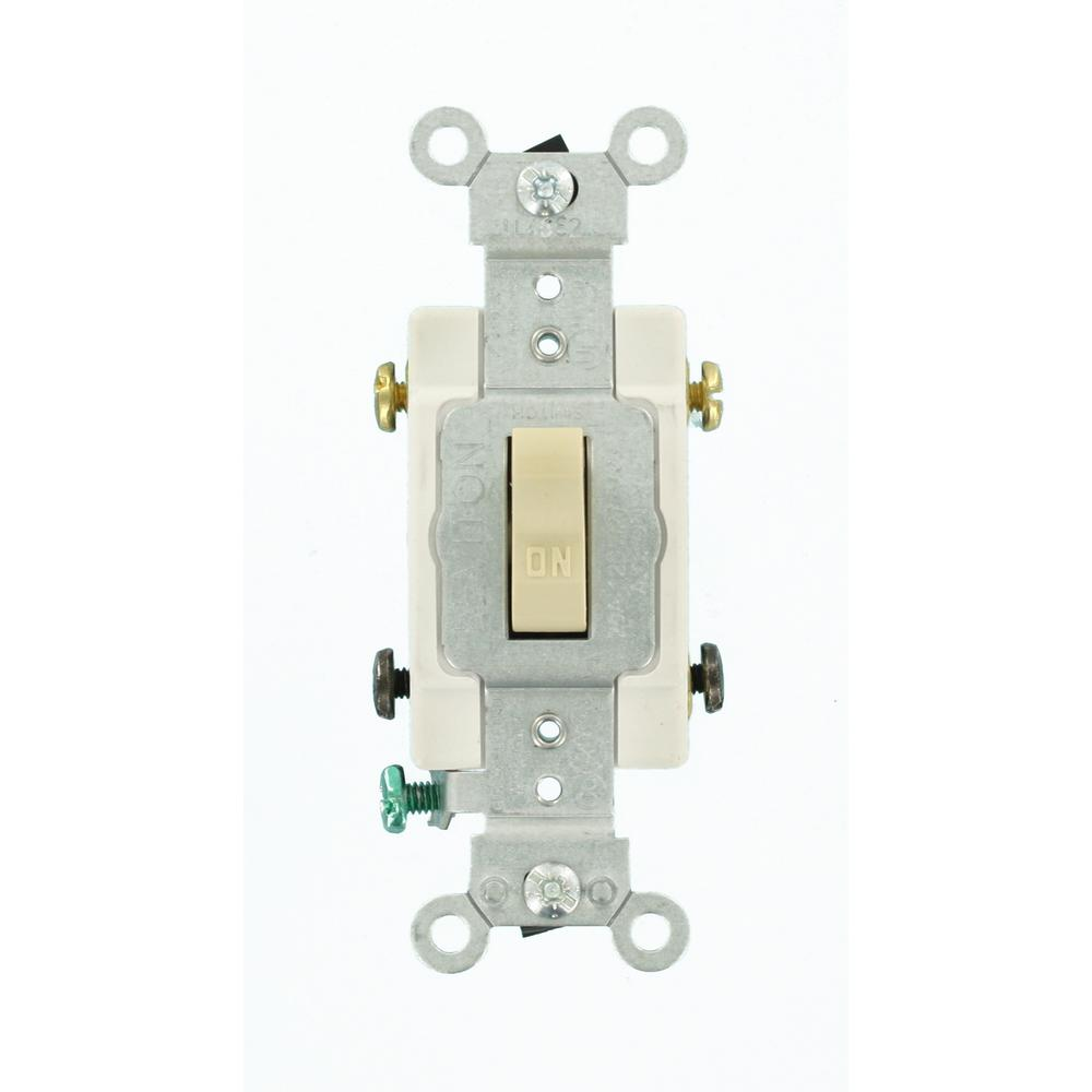 medium resolution of leviton 20 amp double pole commercial switch ivory
