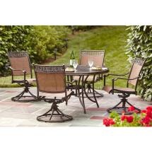 Hampton Bay Niles Park 5-piece Sling Patio Dining Set-s5