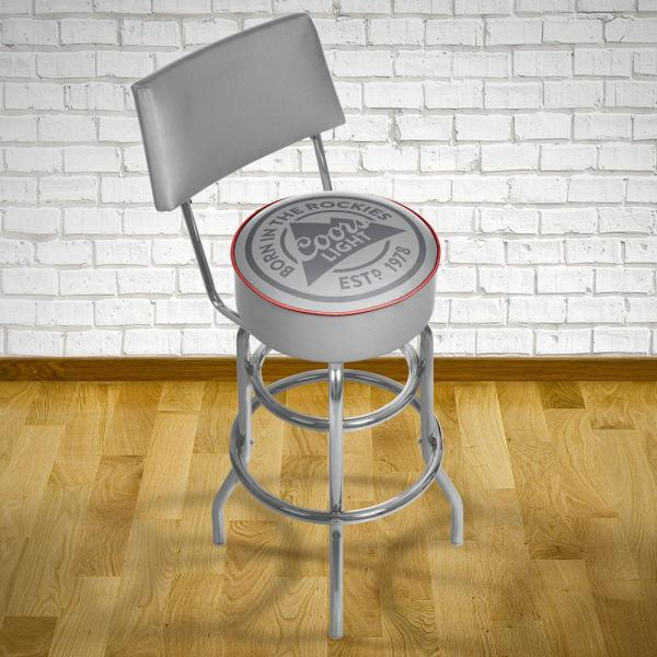 Trademark Coors Light 30 In. Chrome Padded Swivel Bar Stool-cl1100-rl - Home Depot