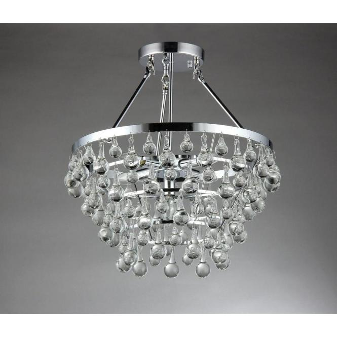 Warehouse Of Tiffany Eleanor 5 Light Chrome Crystal Chandelier Rl9795 The Home Depot