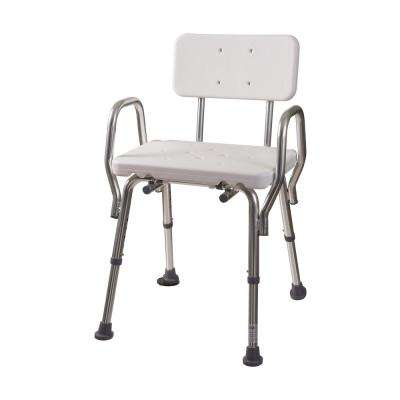 shower chair with wheels and removable arms mesh desk chairs stools accessories the home depot backrest