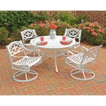Home Styles Biscayne 48 In. White 5-piece Swivel