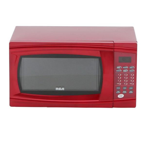 Rca 1.1 Cu. Ft. Countertop Microwave In Red-rmw1112-red - Home Depot