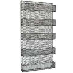 Kitchen Storage Racks Metal Frame Outdoor Spice Jars Organization The Home 5 Shelf Black Wall Mount Rack Organizer