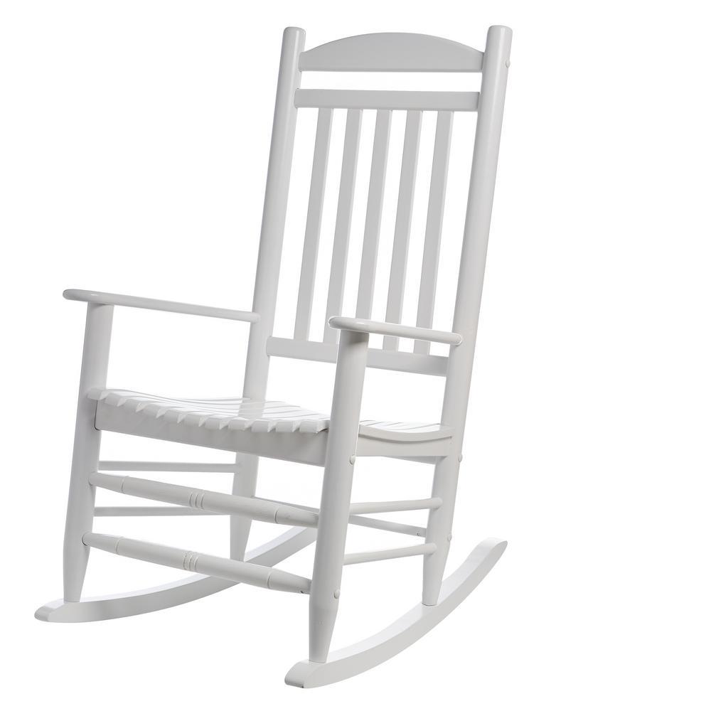 Bradley White Slat Patio Rocking Chair200SWRTA  The