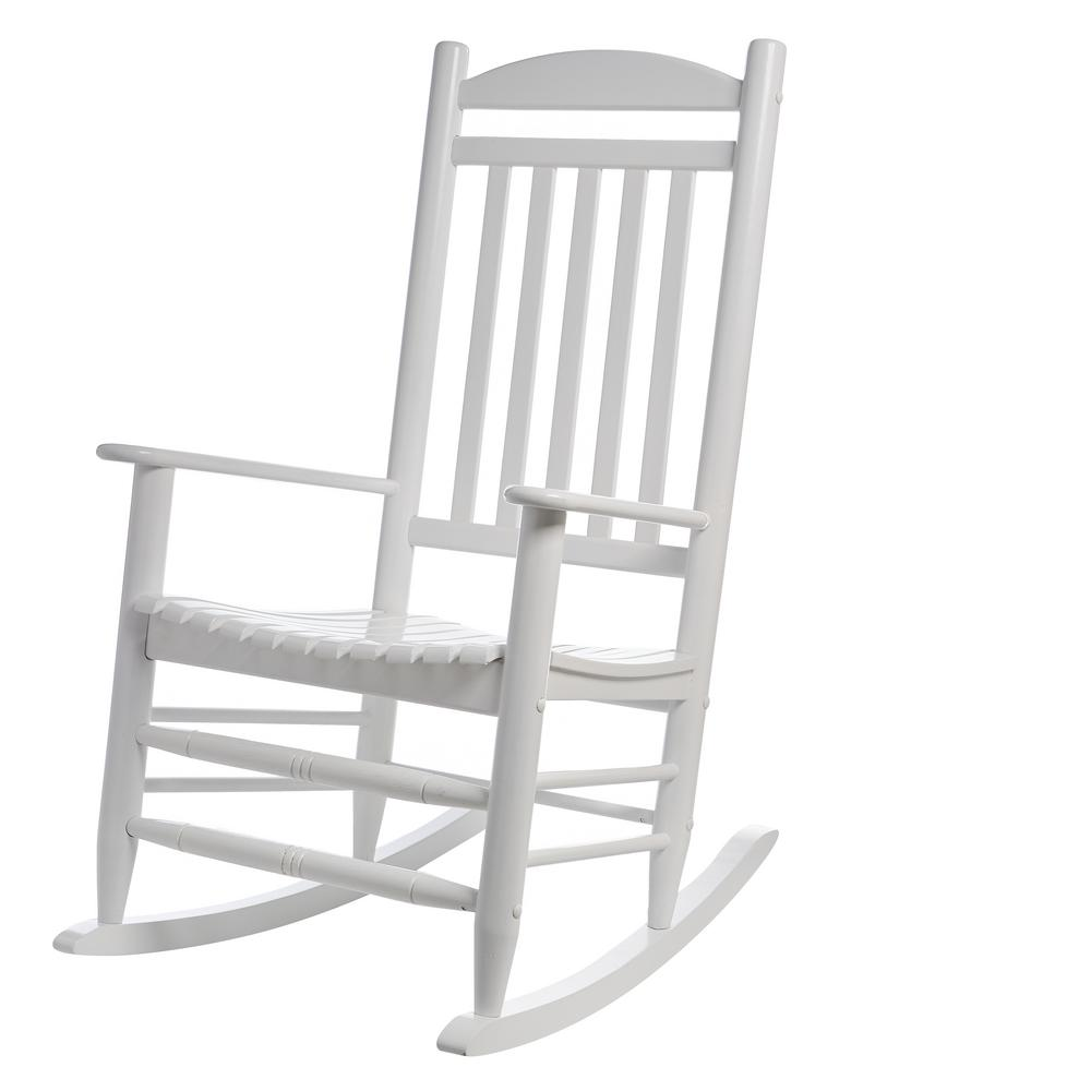 Rocking Chairs Hampton Bay White Wood Outdoor Rocking Chair