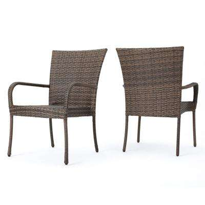 wicker patio chair set of 2 ergonomic lahore standard dining height furniture iron littleton mixed mocha stackable outdoor chairs