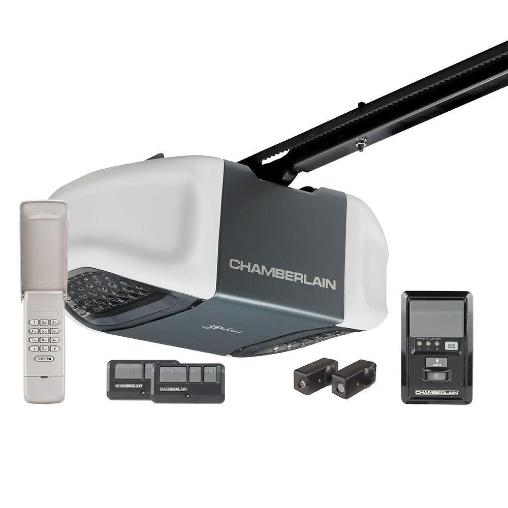 Chamberlain Whisper Drive 12 HP Belt Drive Garage Door Opener with MyQ TechnologyWD832KEV