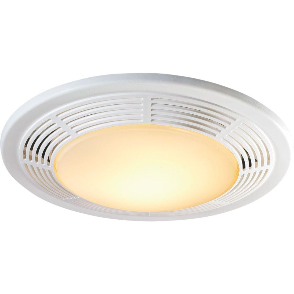 medium resolution of decorative white 100 cfm bathroom exhaust fan with light and night