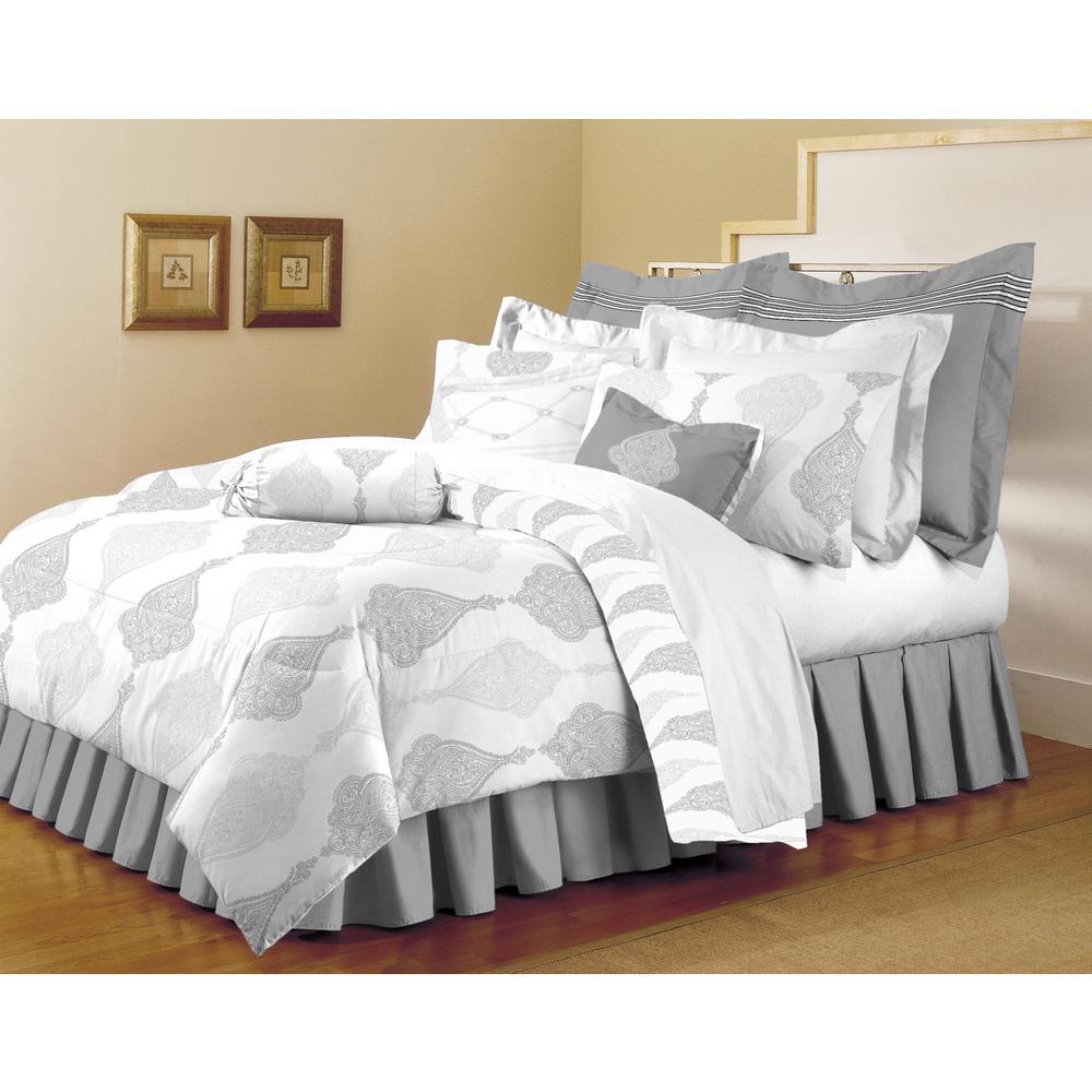 grey and white comforter set