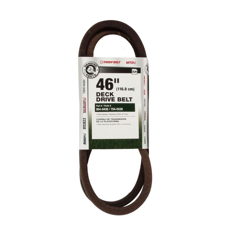 hight resolution of 46 in deck drive belt