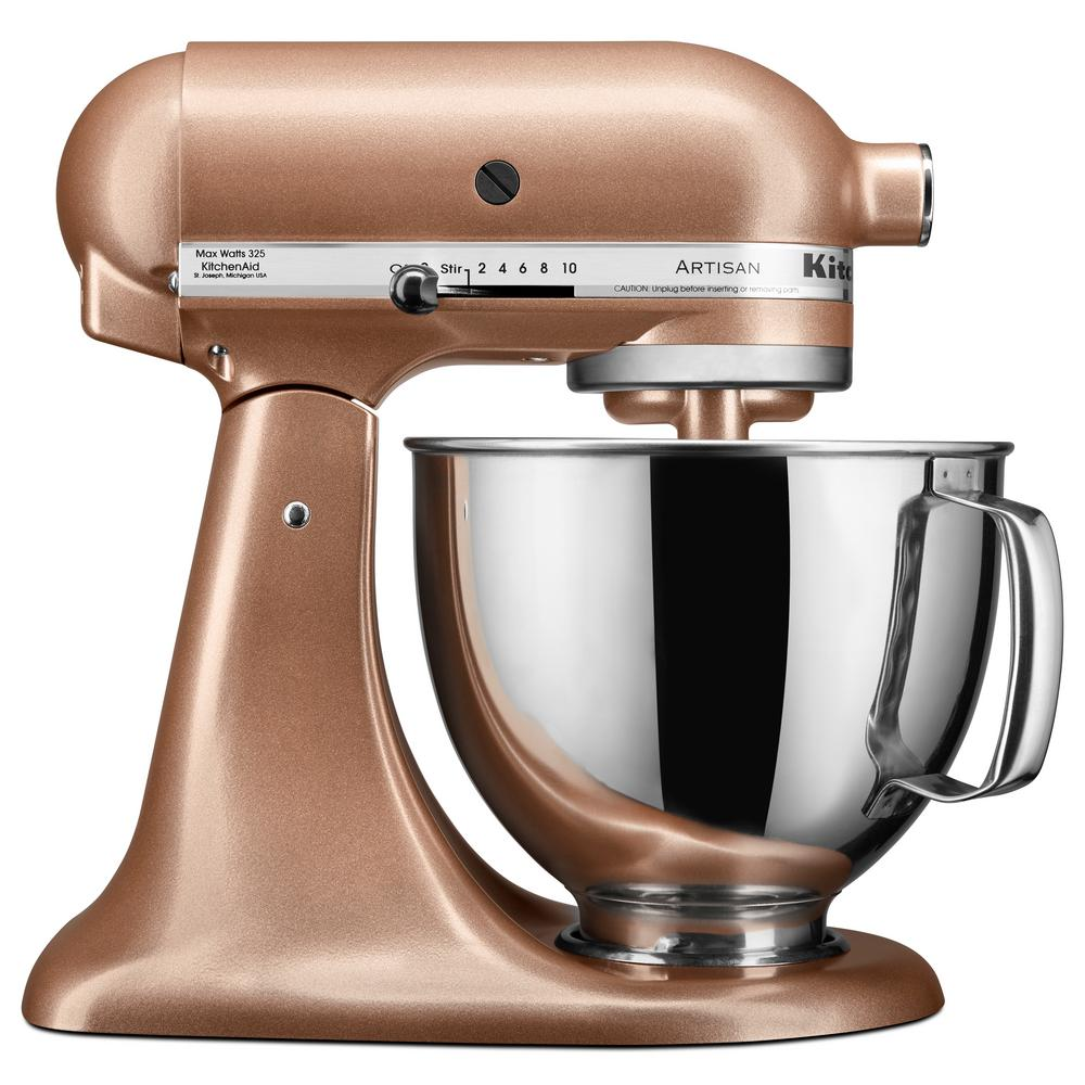 kitchen aid 5 qt mixer top mount sink kitchenaid artisan series tilt head stand ksm150pstz the home depot