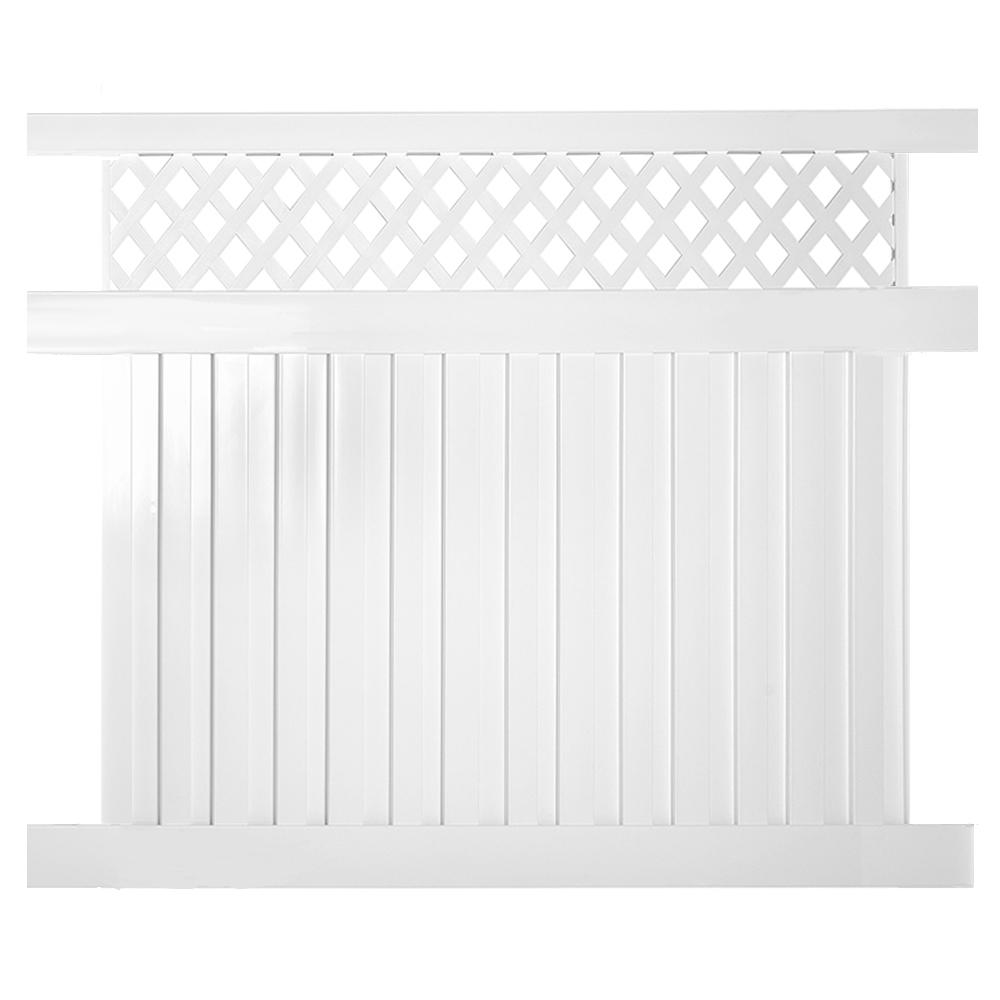 Weatherables Clearwater 6 ft. H x 6 ft. W White Vinyl