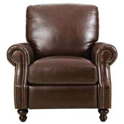 Recliner Chairs Cheap Ikea For Kids Recliners The Home Depot Marco Chocolate Leather