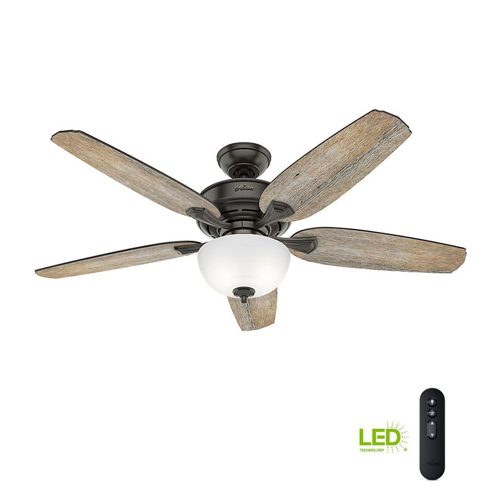 medium resolution of led indoor easy install noble bronze ceiling fan with hunterexpress feature