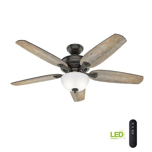 small resolution of led indoor easy install noble bronze ceiling fan with hunterexpress feature